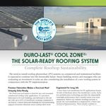 Duro-Last Cool-Zone: The Solar Ready System